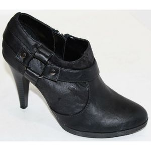 Unlisted Rest My Case Black Stiletto Booties 7.5 M
